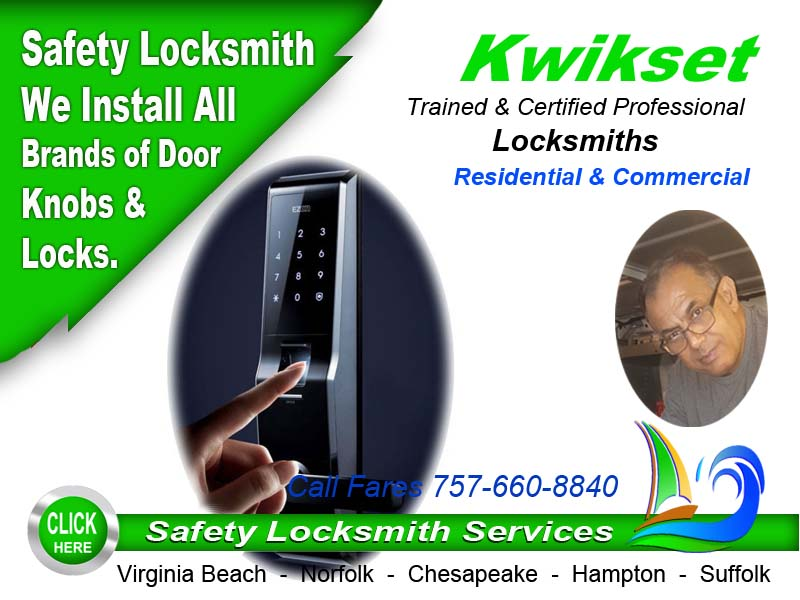 Kwikset Commercial Lock Repair Call Safety Locksmith 757-660
