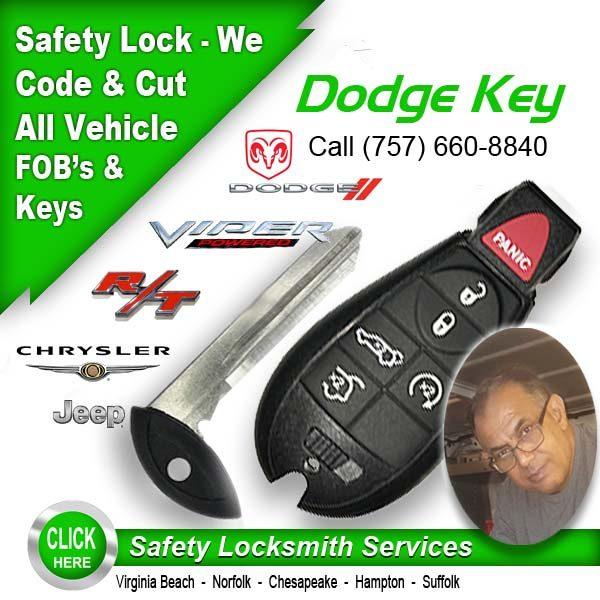 Dodge Key Safety Locksmith Virginia Beach VA (757) 660-8840
