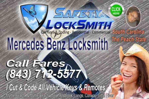 Mercedes Key Replacement  – Call Fares (843) 712-557716