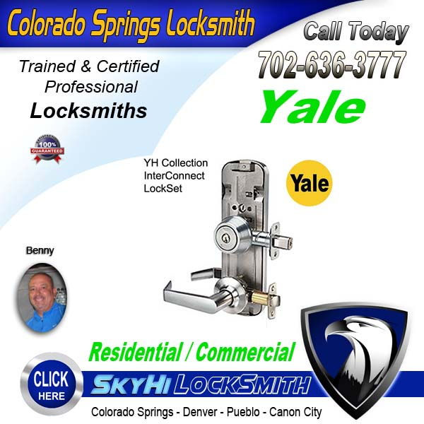 Yale Locksmith Service Call SkyHi Today 719-636-3777