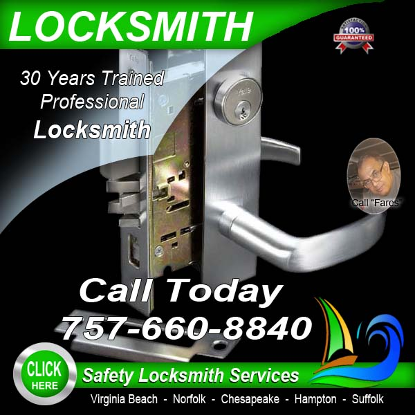 Locksmiths Near Me Call Safety Locksmith 757 660 8840